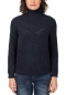 Preview: Timezone Damen Turtleneck Pullover in dunkel Blau mit Lurex
