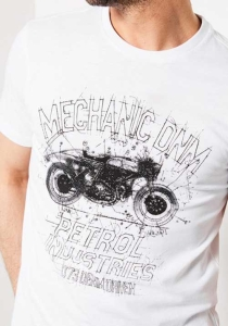 Petrol Industries │ T-Shirt │ Mechanic DNM in Bright White