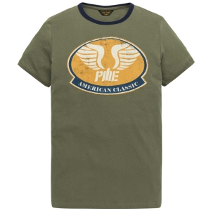 PME LEGEND Rundhals T-Shirt in dusty olive