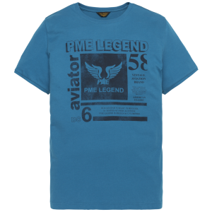 pme legend t-shirt mykonos blue front