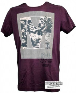 PME T-Shirt Short Sleeve Bordeaux front