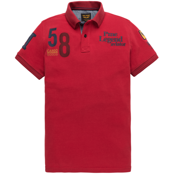 PME Legend Herren Polo Shirt in der Farbe Racing Red